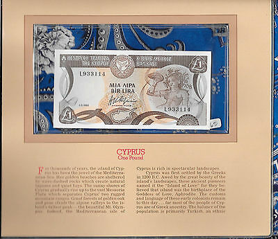 Most Treasured Banknotes Cyprus 1982 1 Pound P50a.2 GEM UNC prefix L