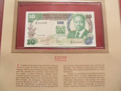 Most Treasured Banknotes Kenya 10 Shillings 1985 P 20d UNC prefix E/41