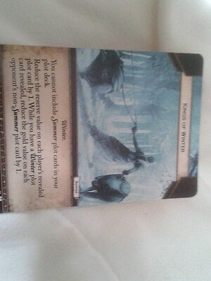 Game Of Thrones LCG 2nd Edition Kings Of Winter Fan Art  Promo card
