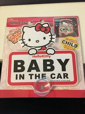 Hello Kitty Baby In The Car Sign - New in Package