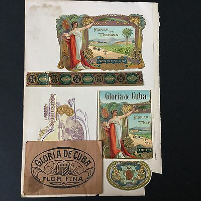 Rare Collection Cigare Epoque 1900 Vista Antique Cigar Band CUBA Bauchbinden