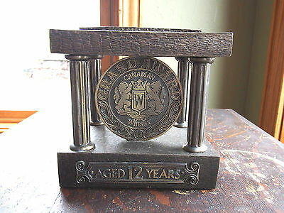 Vintage Grand Award Canadian Whisky Bar Metal Bottle Display