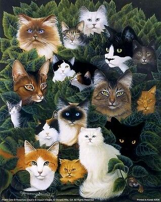 CATS COLLAGE - Beautiful 16x20 In Art Print by R Daunis