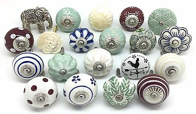 20 These Please Door Knobs SECONDS Vintage Shabby Chic Mix & Match Drawer MA9