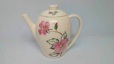 Vintage Edwin Knowles Sweetbriar Teapot or Coffee Pot Mid Century Pink Rose RARE