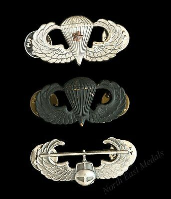 Three American US Parachute / Airborne Style Badges