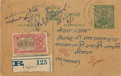 Inde India Cover Card Postal Stationary