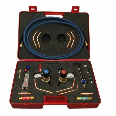 Portable Gas Welding Cutting Kit Type 5 Torch, Hose, Regulator, Spark Arrester
