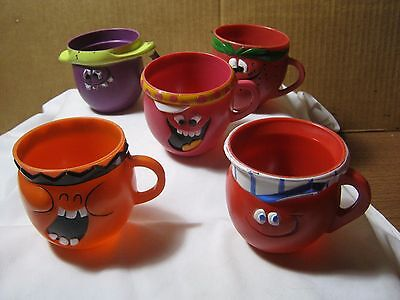 1970's Vintage Funny Face Drink Mix Premiums Character Mugs Goofy Grape & more!