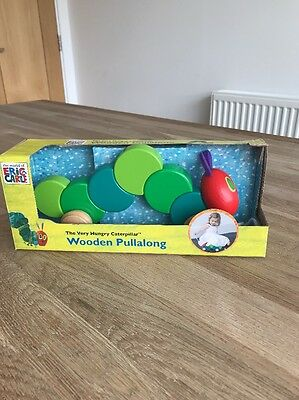 The Very Hungry Caterpillar Pull Along Toy Wood BNIB