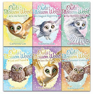 Owls of Blossom Wood Collection 6 Books Set by Catherine Coe Children Gift Pack
