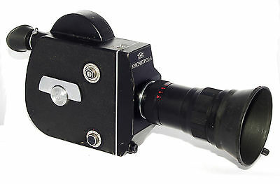 KRASNOGORSK 3 Russian Movie 16mm camera 1987 USSR w/ lens Meteor 5-1 M42 KMZ KIT
