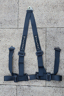 Willans 3 point Safety Harness (Black)