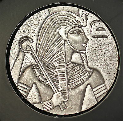 2016 Republic of Chad 3000 Francs Relic Pharaoh Ancient Like Poured Silver Coin