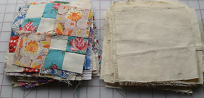 24 1930-40's Double 4 Patch quilt blocks. LOTS of feed sack prints!!