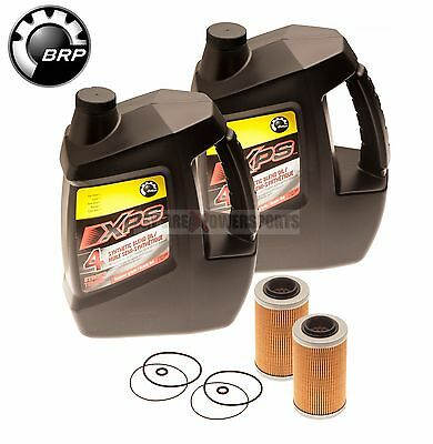 Sea Doo BRP Oil Change Kit W/ Filter & O Rings All 4 Tec GTX GTI RXP RXT 2 Pack
