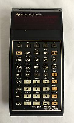 Vintage Texas Instruments TI 58C Calculator Master Library Module Programmable