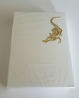 New Gold Gatorback Playing Cards Limited Edition David Blaine