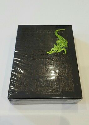 New Green Gatorback Playing Cards Limited Edition David Blaine