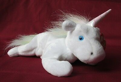 Beanie Baby - Mystic the Unicorn - Rainbow fur mane and tail - LIMITED EDITION