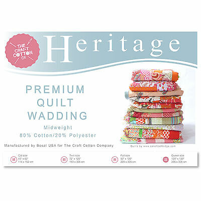 Craft Cotton 3521-03 Heritage Premium Midweight Wadding | Full Size | 229x305cm