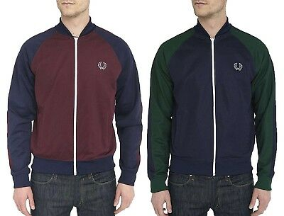 Fred Perry Men's NEW Full zip Long Sleeve Bomber Track Jacket Slim Fit