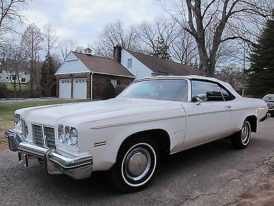 1975 Oldsmobile Eighty-Eight Delta 88 - 201-248-3818 Allen OLDSMOBILE DELTA 88 CONVERTIBLE 1975 WHITE RED INTERIOR 47K MILES! VERY NICE CAR