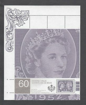 ca. QUEEN ELIZABETH II. UL (pos.1) S/Sheet from UNCUT sheet # 2540ai Canada 2012
