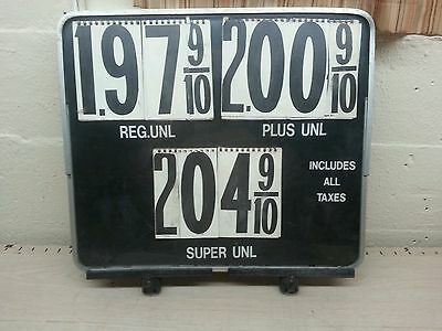Vintage  advertising Gas Station Pump Topper Price Sign Letters & Numbers