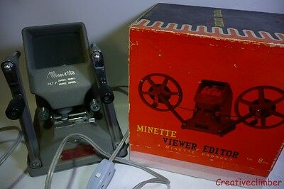 Minette 8mm Cine Film Table Top Viewer & Editor - Boxed