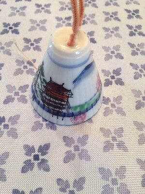 "Vintage Authentic  Petite 2"" Handpainted Pocelain Japanese Bell"