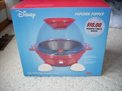 Disney Mickey Mouse Popcorn Popper Maker Air Home Theater Back to Basics, NEW!!!