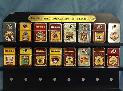 Lot of 16 Vintage Redskins Lighters NFC Division Champs and Wildcards NOT ZIPPO