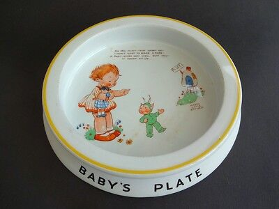 Shelley Mabel Lucie Attwell Baby's Plate Large Heavy Porringer -the best pattern