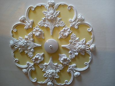 "plaster Ceiling rose/design,art deco style,handmade,home decor,21""diameter."