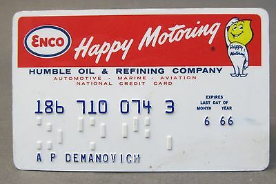 1966 ENCO HUMBLE OIL gasoline credit card