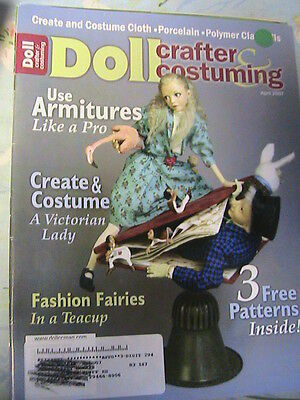 DOLL CRAFTER & COSTUMING April 2007 RARE dollmaking cloth~clay~porceln magazine