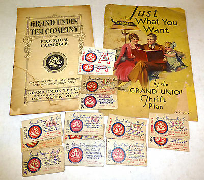 Grand Union Tea Company lot; Tea check cards, booklets, advertisements