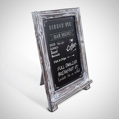 Rustic Whitewashed Tabletop Chalkboard Vintage Wedding Table Sign Memo Board New