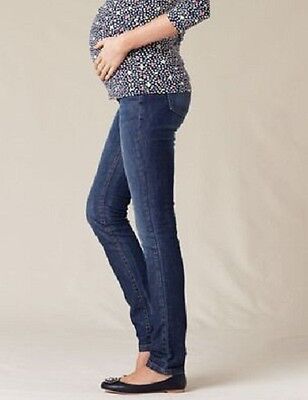 Nwt $88 Boden Washed Indigo High Panel Maternity Skinny Jeans Bp025 - Us 4R