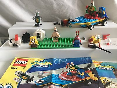 Spongebob square pants mini figures from #3815/#3833 sets and w/some Lego blocks
