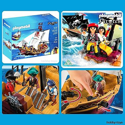 * Playmobil 5678 * Red Serpent Pirate Ship * Plus Free Pirate Dvd * New *