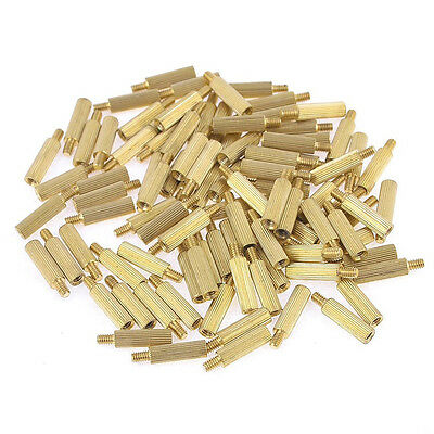 100 Pcs Male Female PCB Thread Brass Pillars Standoff Spacers HY