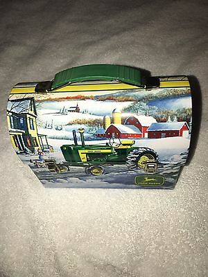John Deere Mini Metal Lunch Box 2007 Winter Snow Scenery New with Tag