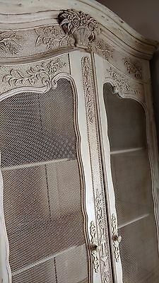 French Armoire Bookcase solid wood hand carved