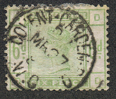Great Britain 105 Used  6p green  scarce 1884