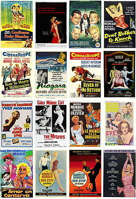 16 postcards of Marilyn Monroe hollywood famous actress film beauty girl woman