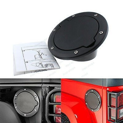 Fuel Filler Oil Gas Tank Cap Cover 2/4 Door For Jeep Wrangler JK/Unlimited 07-16
