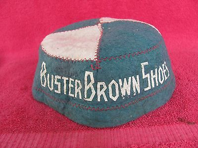 Buster Brown Shoes Beanie Cap Hat Manatee Trading Co. Florida Advertising Sign