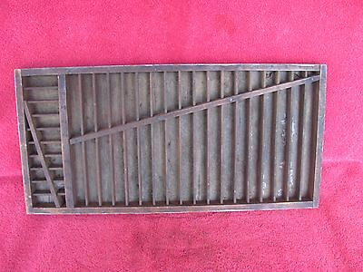 Old Advertising Printers Printing Print Tray ~ Shelf Display Letter Press Drawer